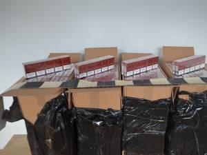 Peste 4.400 de pachete de ţigări de contrabandă, confiscate la graniţa cu Ucraina