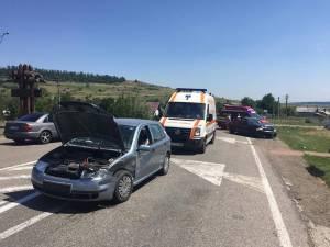 Accidentul de circulaţie care a avut loc sâmbătă la amiază pe drumul naţional DN2 în dreptul localităţii Dărmăneşti