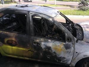 Taxiul care a ars