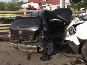 Un tânăr a ajuns la spital în urma unui grav accident, la Şcheia