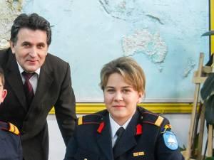 Sabina Calisevici alături de prof. Radu Ciumaşu