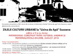 """Zilele Culturii Urbane la """"Uzina de Apă"""" Suceava"""