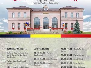 """Zilele Comunei Dorna Candrenilor și Festivalul """"La izvor de apă vie"""""""