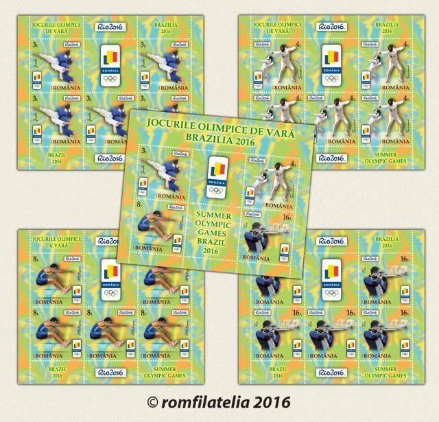 """Emisiunea de mărci poștale """"Jocurile Olimpice de Vară - Brazilia 2016"""""""