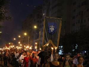 Parada Festivalului Medieval de la Suceava este cea mai mare din ţară