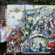 Paul Anastasiu şi tabloul pentru pompierii din Paris