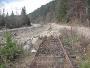 Calea ferată spre Nisipitu, dispărută total pe anumite porţiuni