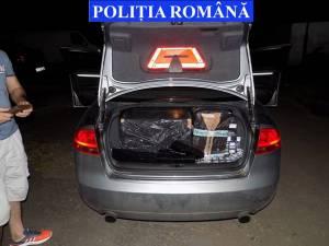Captură de ţigări de 30.000 de lei şi o maşină de 6.000 de euro, după un filtru rutier
