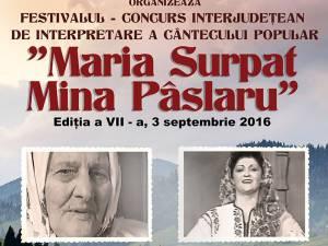 """Festivalul """"Maria Surpat - Mina Pâslaru"""" și Ziua Comunei Sadova"""