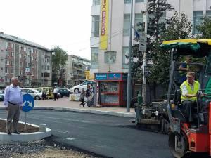 Primarul Ion Lungu a verificat lucrările de modernizare a străzii Ștefan cel Mare