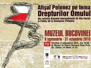 """Zilele Culturii Polone de anul acesta încep joi, 8 septembrie, la ora 10:00, la Muzeul de Istorie din Suceava, cu vernisajul expoziţiei intitulate """"Afişul polonez pe tema Drepturilor Omului"""""""