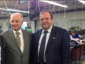 Gheorghe Flutur i-a transmis ambasadorului Belgiei că sucevenii vor o cursă aeriană Suceava - Bruxelles