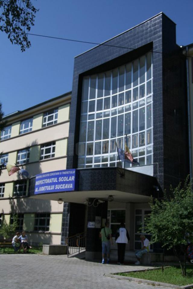 Lucrarea la limba română a fost schimbată în sediul Inspectoratului Şcolar Judeţean Suceava