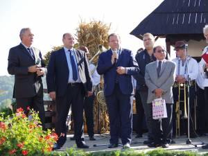 Gheorghe Flutur i-a îndemnat pe vizitatori să vină să guste din Bucovina
