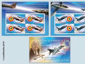 Emisiune filatelică dedicată Aviației Române