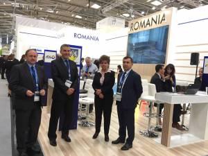 Preşedintele CCI Suceava, Nicolae Troaşe (dreapta), şi primarul din Siret, Adrian Popoiu, au participat la Târgul Expo Real din Munchen