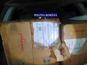 Poliţiştii au confiscat ţigări în valoare de 24.000 de lei