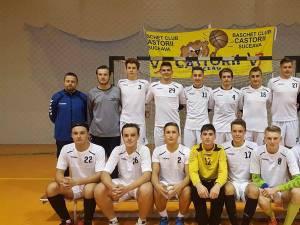 Echipa de handbal juniori II LPS Suceava pregătită de antrenorul Răzvan Bernicu