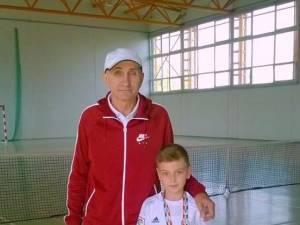 Darius Avrămia şi antrenorul Marcel Dascălu