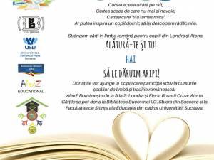 """""""Dăruieşte poveşti"""", campanie publică de strângere de cărţi din donaţii, pentru copiii români din Londra şi Atena"""