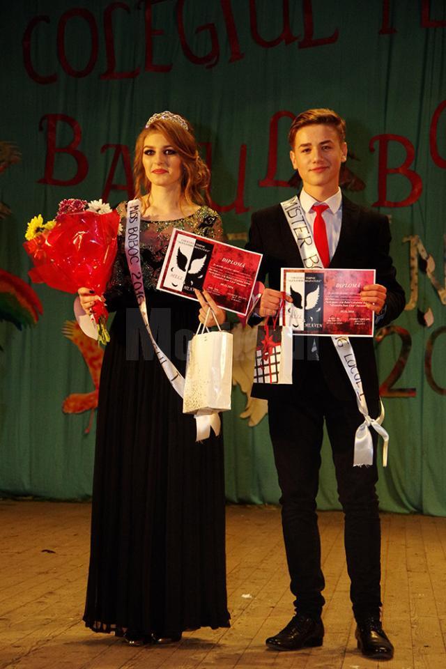Titlurile de Miss și Mister Boboc au fost decernate elevilor Andra Ungureanu şi Alexandru Balan