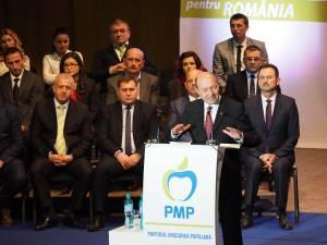Traian Băsescu a venit la Suceava pentru lansarea candidaţilor PMP pentru alegerile parlamentare
