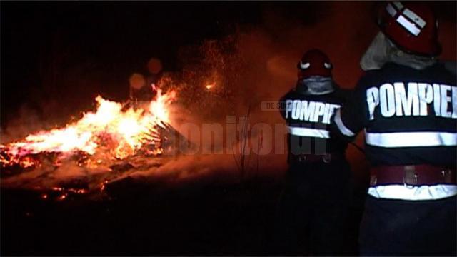 Incendiu provocat intenţionat la o stână