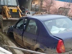 Autoturismul primăriei, după accident