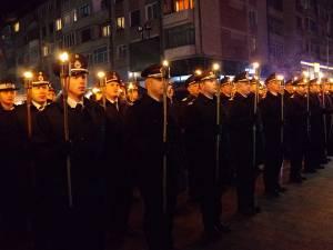 Parada cu făclii a reprezentanţilor IGSU Suceava