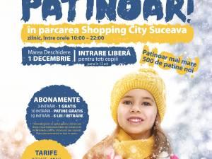 Patinoarul din parcarea Shopping City Suceava se deschide pe 1 Decembrie