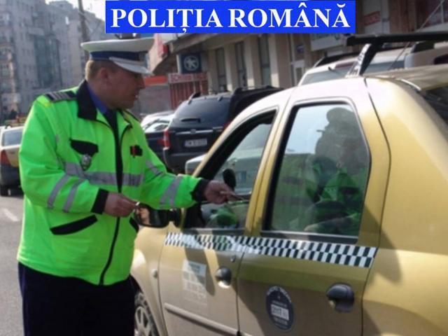Aproape jumătate din taxiurile verificate de poliţişti prezentau nereguli