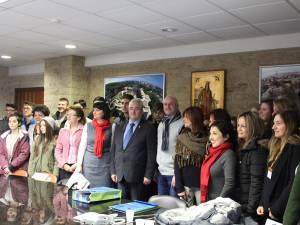 Delegaţia țărilor participante la proiectul Erasmus Plus, la întâlnirea cu conducerea municipalităţii sucevene