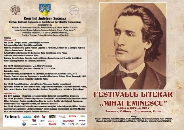 "Festivalul literar ""Mihai Eminescu"", ediția a XXVI-a"