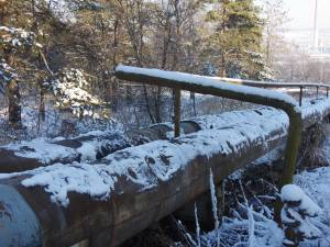 Magistrala de termoficare care alimenteaza orasul Suceava