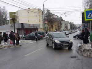 Poziţia în care a fost găsita maşina la locul accidentului