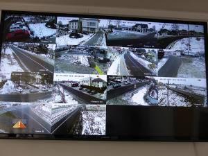 Camerele de luat vederi monitorizează o parte a comunei