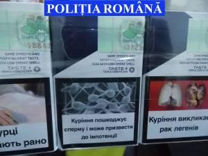 Casă în construcţie, transformată în depozit de ţigări de contrabandă