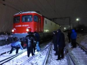 Locomotiva ar fi deraiat din cauză că macazul acţionat automat nu a funcţionat normal
