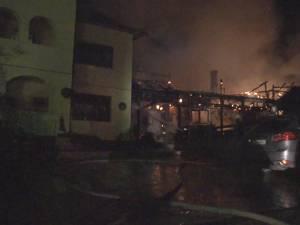 Gospodărie distrusă de un puternic incendiu, la Ilişeşti