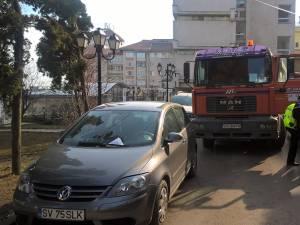 Strada Vasile Bumbac a fost blocată mai bine de o oră