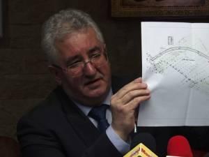 Primarul Ion Lungu a prezentat traseul rutei ocolitoare