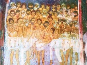 Sfinţii 40 de Mucenici din Sevastia Armeniei