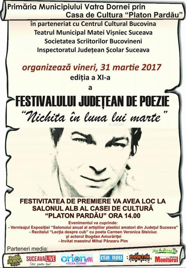 """Festivalul Judeţean de Poezie """"Nichita în luna lui Marte"""""""