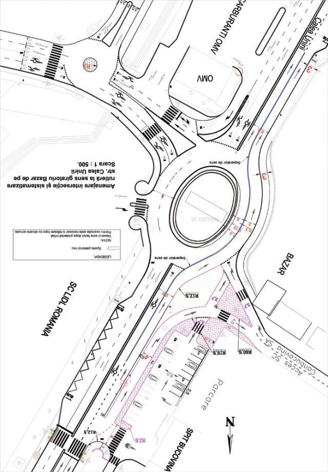 Desfiinţarea trecerilor de pietoni de pe Calea Unirii şi interzicerea accesului la stânga către Shopping City, printre măsurile de fluidizare a traficului rutier