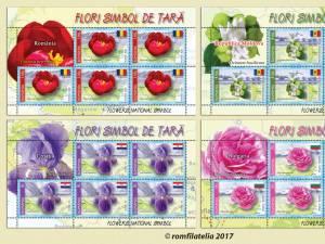 """""""Flori simbol de ţară"""", pe timbrele româneşti"""