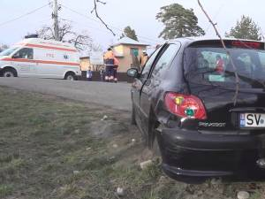 Cele două maşini implicate în accident