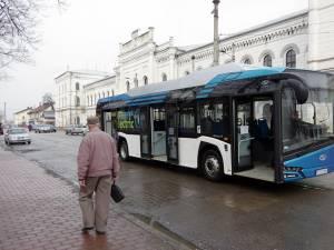 Autobuzul electric va circula pe traseele din Suceava până la finele lunii martie, călătoriile fiind gratuite