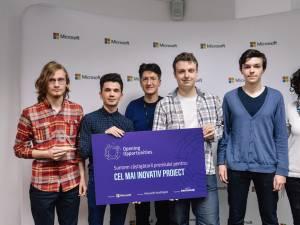 """Premiul pentru cel mai inovativ proiect a fost adjudecat de echipa """"DriveVision"""", de la Colegiul """"""""Petru Rareș"""""""