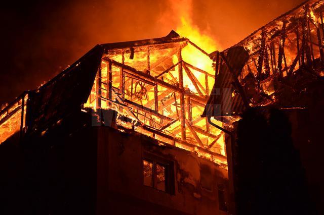 Incendiul a afectat locuinţele a 68 de familii din Gura Humorului