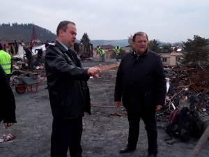 Gheorghe Flutur a anunţat că va propune acordarea de sprijin financiar familiilor afectate de incendiul din Gura Humorului